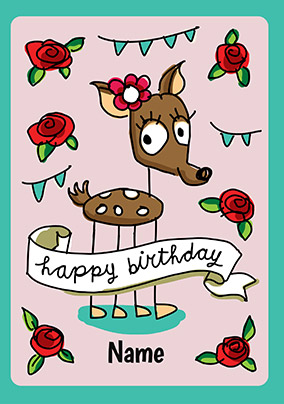 Babette Deer Personalised Card