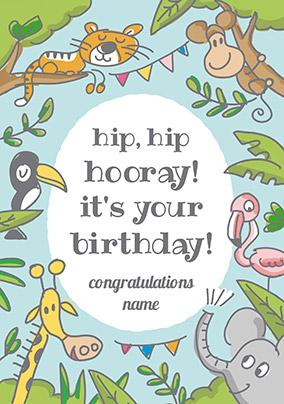 On Safari Birthday Card