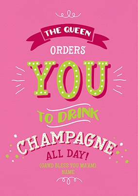 Drink Champagne Birthday Card