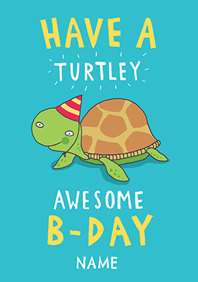 Turtley Awesome Birthday Card NO Preview Image Is Not Found