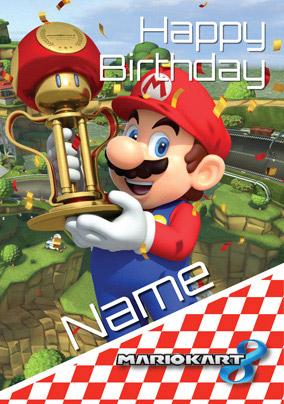 Mario Kart Birthday Card Happy