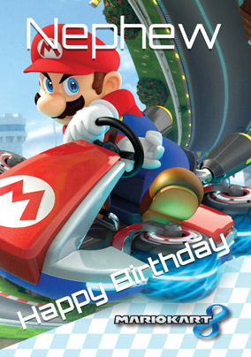 Mario Kart Birthday Card Happy Nephew