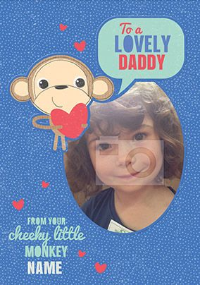 Doodle Pops - Daddy Birthday Card From Your Cheeky Monkey