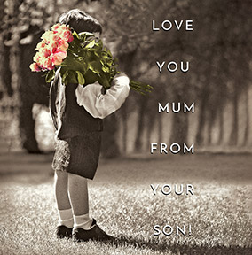 Love You Mum Personalised Card