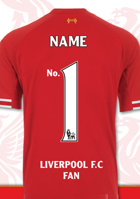 Liverpool FC HAPPY BIRTHDAY CARD papa nº 1 fan équipe de football rouge CFT