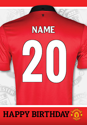 Manchester United - Age 20 Birthday Shirt
