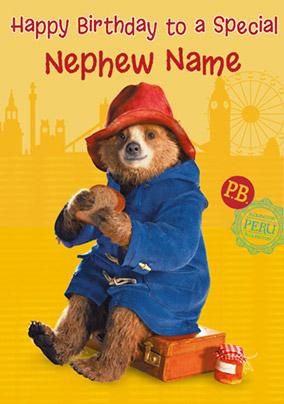 Paddington Bear Birthday Card To A Special Nephew