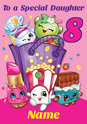 image about Shopkins Birthday Card Printable named Send out 8th Birthday Playing cards for Young children Funky Pigeon