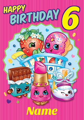 Shopkins Birthday Card