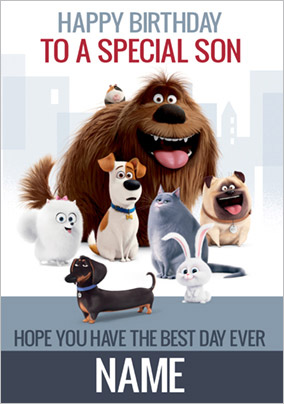 The Secret Life of Pets - Birthday Card To a Special Son