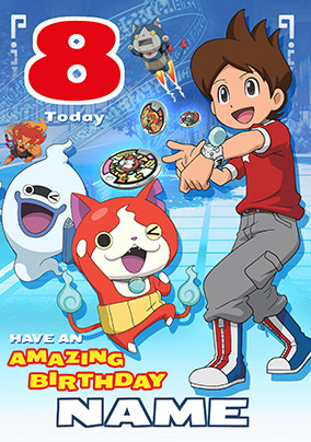 Yo Kai Watch 8th Birthday Card Shortlist This