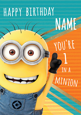 1 In A Minion Personalised Birthday Card