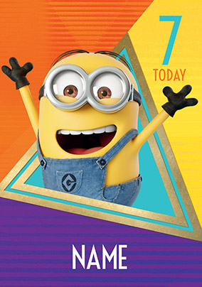 More Like This Despicable Me 7 Today Personalised Birthday Card