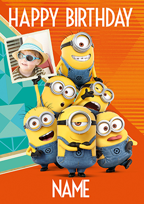 Despicable Me Photo Birthday Card