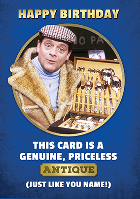 Only Fools And Horses Priceless Antique Birthday Card