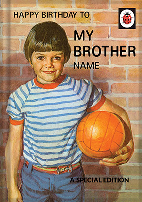 Brother Ladybird Book Birthday Card