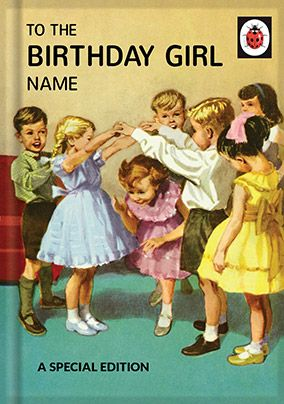 Birthday Girl Ladybird Book Birthday Card