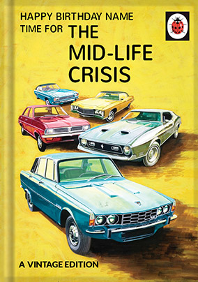 Mid Life Crisis Ladybird Book Birthday Card