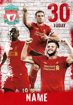 Liverpool Football Club Birthday Card