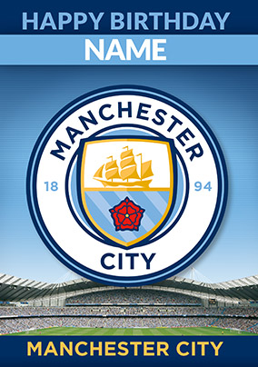 Manchester City Football Club Birthday Card - Emblem