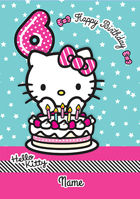 More Like This Hello Kitty 6 Today Birthday Card