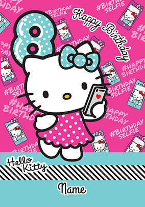 Hello Kitty 8 Today Birthday Card