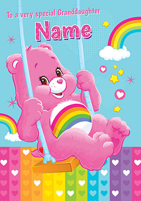 Special Granddaughter Care Bears Personalised Birthday Card NO Preview Image Is Not Found