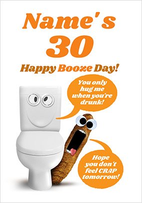 Happy Booze Day Personalised Card