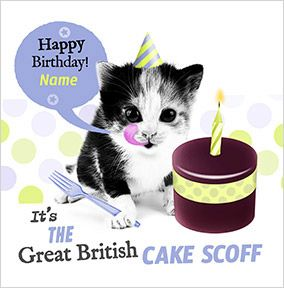 Cake Scoff Personalised Birthday Card