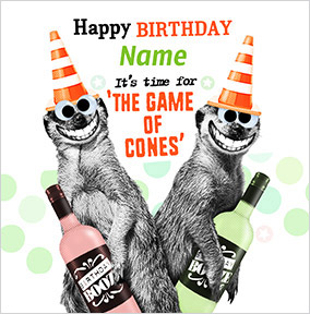Game Of Cones Personalised Birthday Card