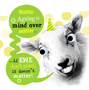 If Ewe Don't Mind Birthday Card - Punny Farm