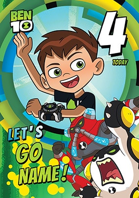 Ben 10 - 4 Today Personalised Card