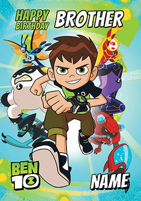 Ben 10 - Brother Personalised Birthday Card