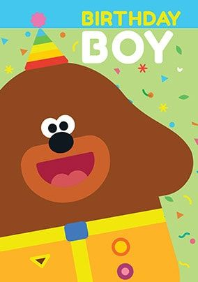 Hey Duggee - Birthday Boy Personalised Card