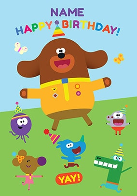 Personalised Birthday Party Invitations Hey Duggee x 5