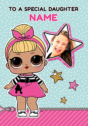 Lol Surprise Photo Upload Daughter Personalised Birthday Card
