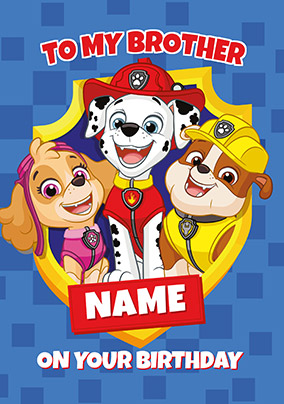 image about Paw Patrol Printable Birthday Card identify Paw Patrol Birthday Playing cards Funky Pigeon