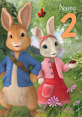 Peter Rabbit 2 Today Personalised Birthday Card