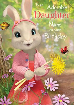 Peter Rabbit Daughter Personalised Birthday Card