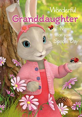 Peter Rabbit Granddaughter Personalised Birthday Card