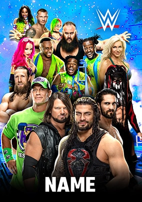 WWE All the Gang Personalised Card