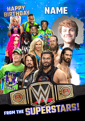 More like this... WWE From the Superstars Photo Upload Personalised Card edac18ef8