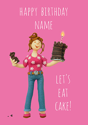 Eat Cake Personalised Card