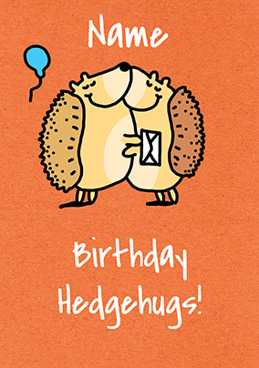 Birthday Hedgehugs Personalised Card