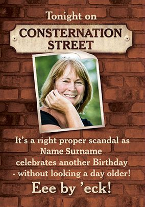 Consternation Street Spoof Photo Birthday Card