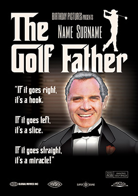 The Golf Father Spoof Photo Birthday Card NO Preview Image Is Not Found