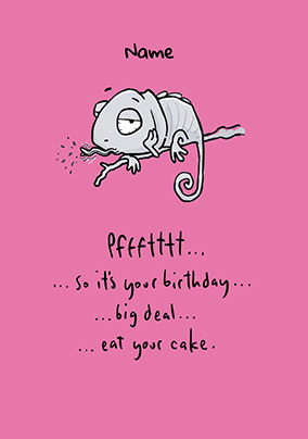Leon - Eat Your Cake Personalised Card