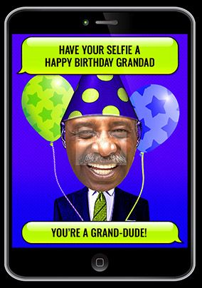 Grandad Selfie Photo Birthday Card