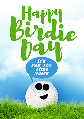 Happy Birdie Day Personalised Card