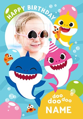 Baby Shark Photo Birthday Card